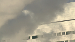 HD2008-12-11-5 steam exhaust bdg winter Stock Video Footage