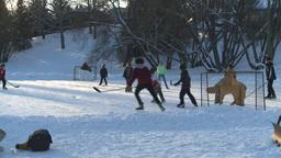 HD2008-12-11-9 shinny ice skate Footage