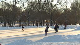 HD2008-12-11-11 shinny ice skate Footage