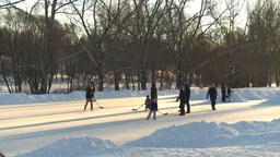 HD2008-12-11-11 shinny ice skate Stock Video Footage
