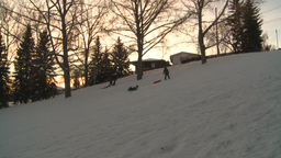HD2008-12-11-27 tobbagan hill Stock Video Footage