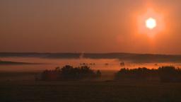 HD2008-7-1-13 sunrise fog gas plant Stock Video Footage