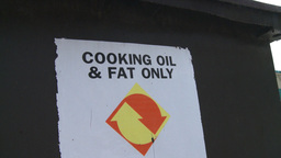 HD2008-7-1-45 cooking fats recycle Stock Video Footage