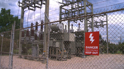 HD2008-7-1-48 high voltage sign Stock Video Footage