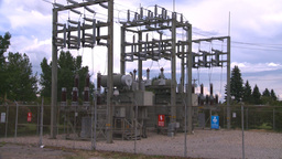 HD2008-7-1-50 elec substation Stock Video Footage