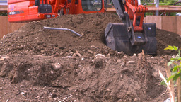 HD2008-7-1-52 backhoe scoop Stock Video Footage