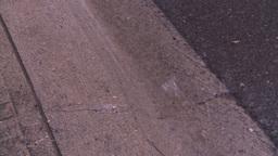 HD2008-7-2-13 rain falling on gutter Stock Video Footage