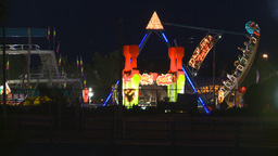 HD2008-7-2-17 midway night Stock Video Footage