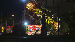 HD2008-7-2-19 midway night the zipper Stock Video Footage