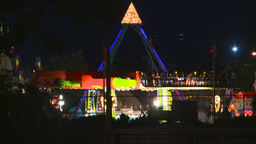 HD2008-7-2-21 midway night Stock Video Footage