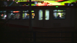 midway night LRT Stock Video Footage