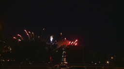 HD2008-7-2-33 midway night fireworks Stock Video Footage
