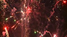 HD2008-7-2-35 night fireworks Stock Video Footage