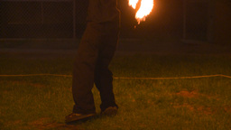 HD2008-7-2-37 fire spin boy Stock Video Footage