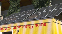 HD2008-7-3-1 solar panels Stock Video Footage