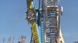 HD2008-7-3-9 midway rides Stock Video Footage