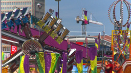 HD2008-7-3-11 midway rides Stock Video Footage