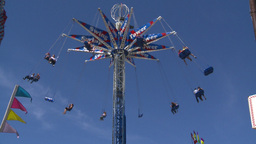 HD2008-7-3-13 midway rides Stock Video Footage