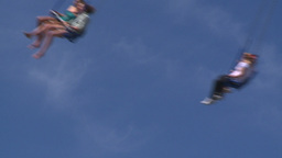 HD2008-7-3-15 midway rides Stock Video Footage