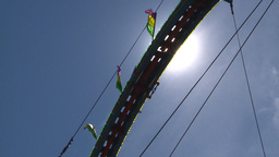 HD2008-7-3-21 midway rides Stock Video Footage