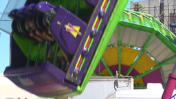 HD2008-7-3-27 midway rides Stock Video Footage
