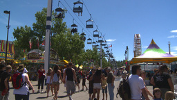 HD2008-7-3-43 midway rides Stock Video Footage
