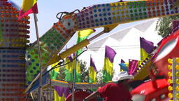 HD2008-7-3-49 midway rides Stock Video Footage