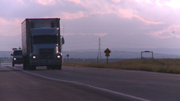 HD2008-6-7-37 TN truck thru frame Stock Video Footage