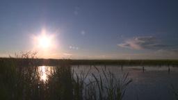 HD2008-6-7-57 sun pond evening Stock Video Footage