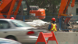 HD2008-7-7-7 traffic and road construction Footage