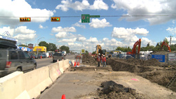 HD2008-7-7-9 traffic and road construction Footage