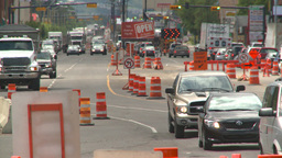 HD2008-7-7-11 traffic and road construction Footage