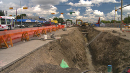 HD2008-7-7-13 backhoe trenching Stock Video Footage