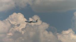 HD2008-7-7-21 passengerjet thru frame airbus AC Stock Video Footage