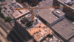 HD2008-7-8-10 aerial DT Cgy const cranes Stock Video Footage