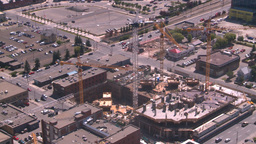HD2008-7-8-14 aerial DT Cgy const cranes Stock Video Footage