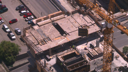 HD2008-7-8-20 TL aerial DT Cgy const cranes Stock Video Footage