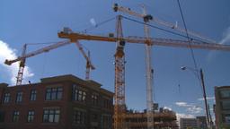 HD2008-7-8-31 TL constr site cranes Footage
