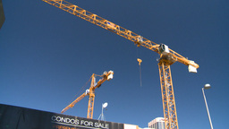 HD2008-7-9-8 crane condos for sale Stock Video Footage