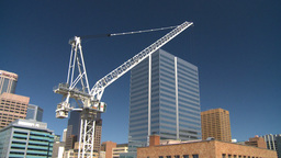 HD2008-7-9-10 crane const site Stock Video Footage