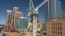 HD2008-7-9-10 crane const site Stock Video Footage