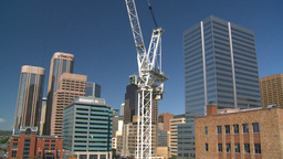 HD2008-7-9-20 const site crane Stock Video Footage