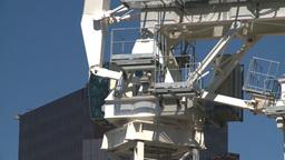 HD2008-7-9-20 const site crane Stock Video Footage