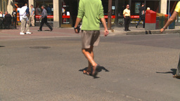 HD2008-7-9-22 people crossing street Stock Video Footage