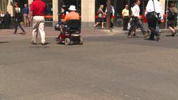 HD2008-7-9-22 people crossing street Stock Video Footage