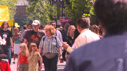 HD2008-7-9-24 TL people on mall Stock Video Footage