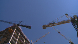 HD2008-7-9-30 bdg and cranes Stock Video Footage