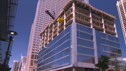 HD2008-7-9-32 const site crane Stock Video Footage