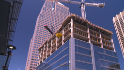 HD2008-7-9-32 const site crane Stock Video Footage