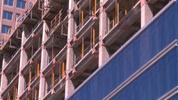 HD2008-7-9-34 const site crane bucket lift Stock Video Footage
